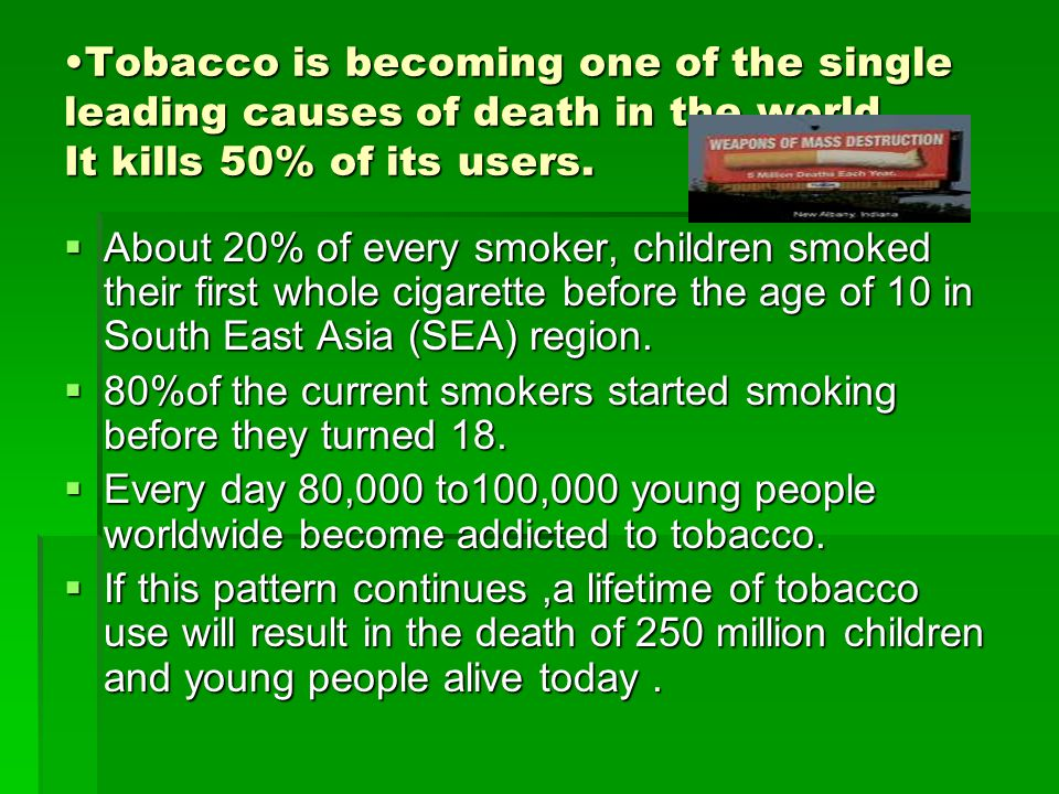 POISONOUS INGREDIENTS IN TOBACCO Q.What are the toxic constituents in tobacco.