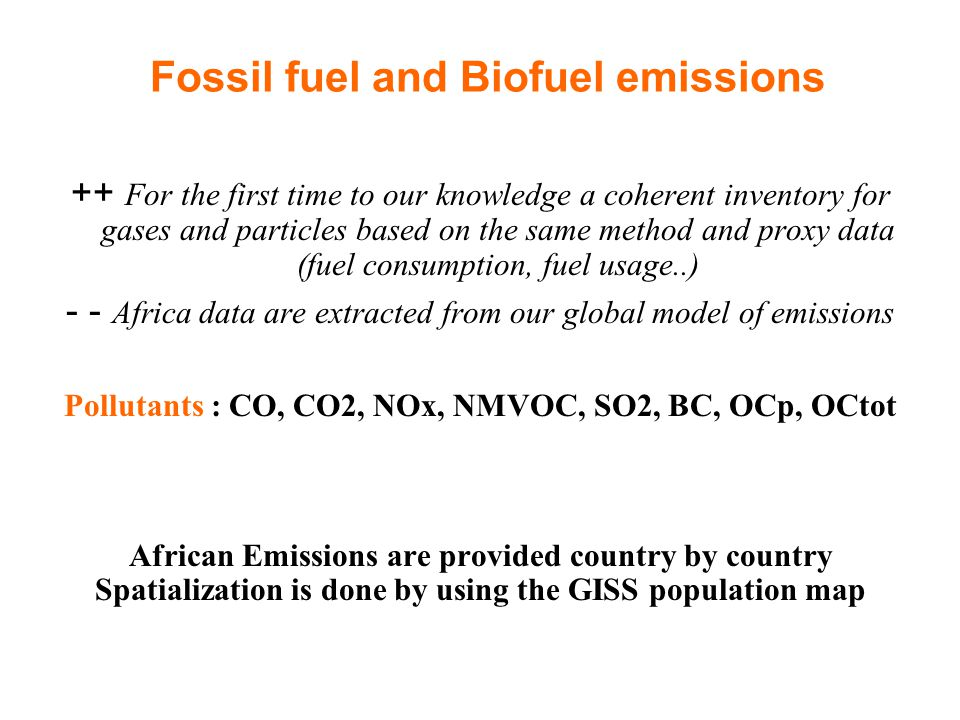 CAPEDB : Fossil fuel and biofuel sources