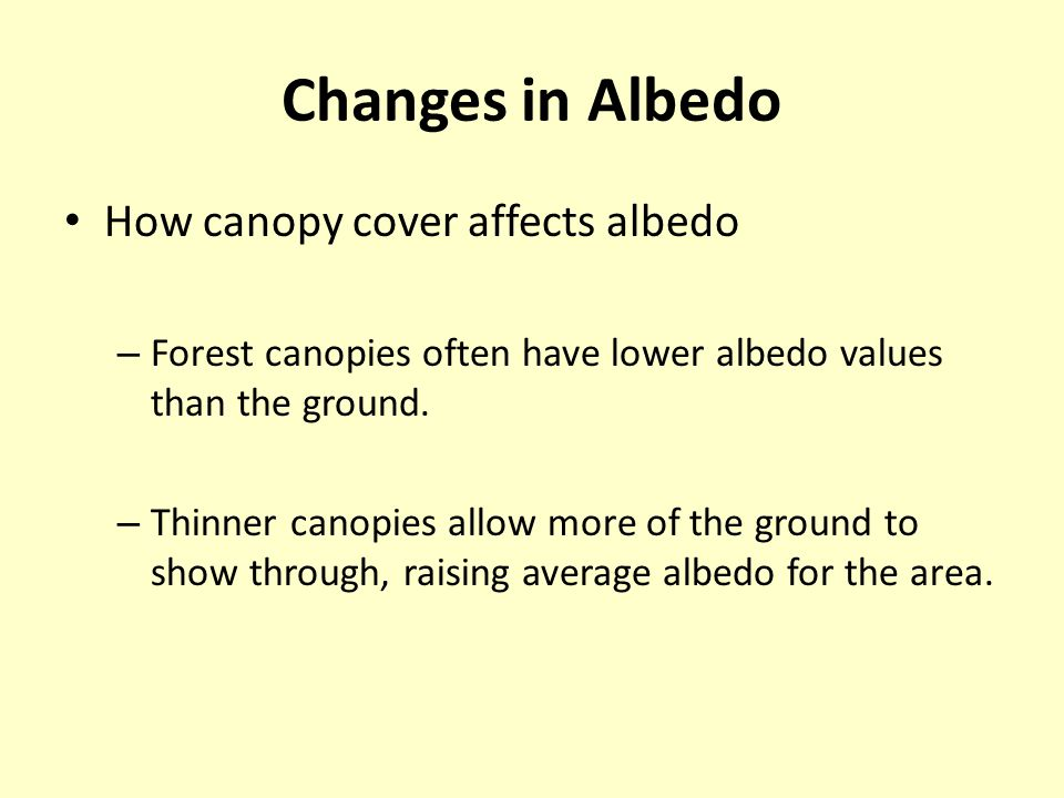 High Canopy Cover  Albedo Low Canopy Cover  Albedo Incoming and reflected shortwave radiation