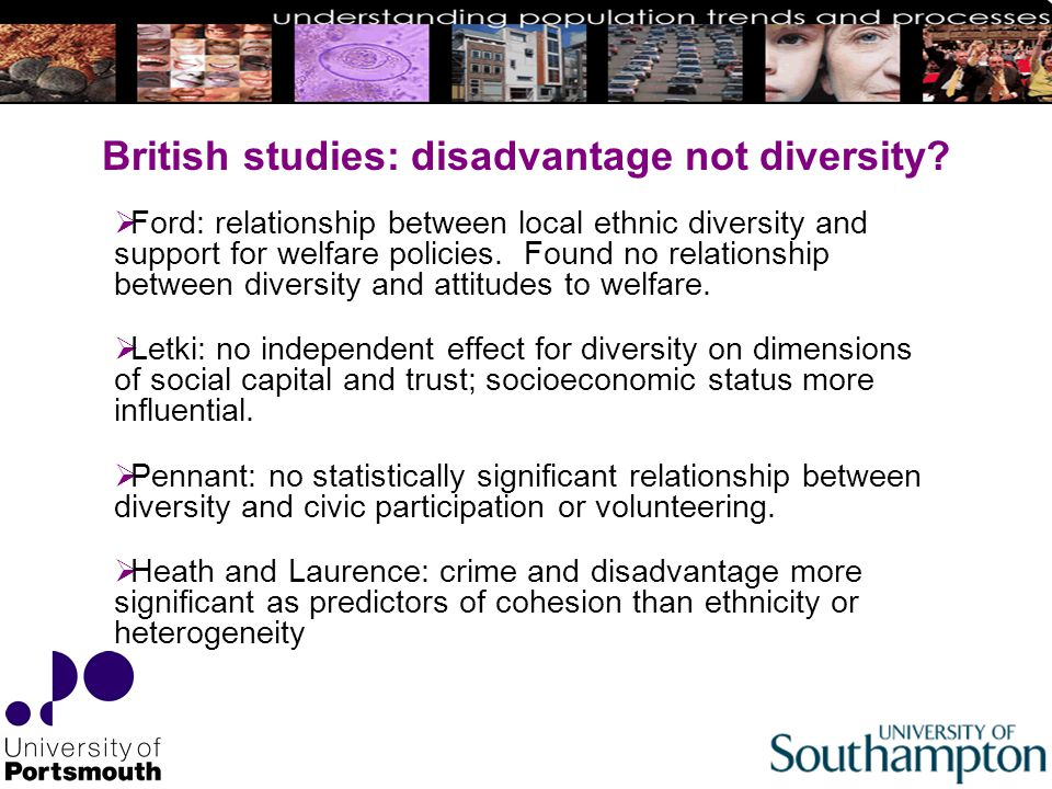 British studies: disadvantage not diversity.