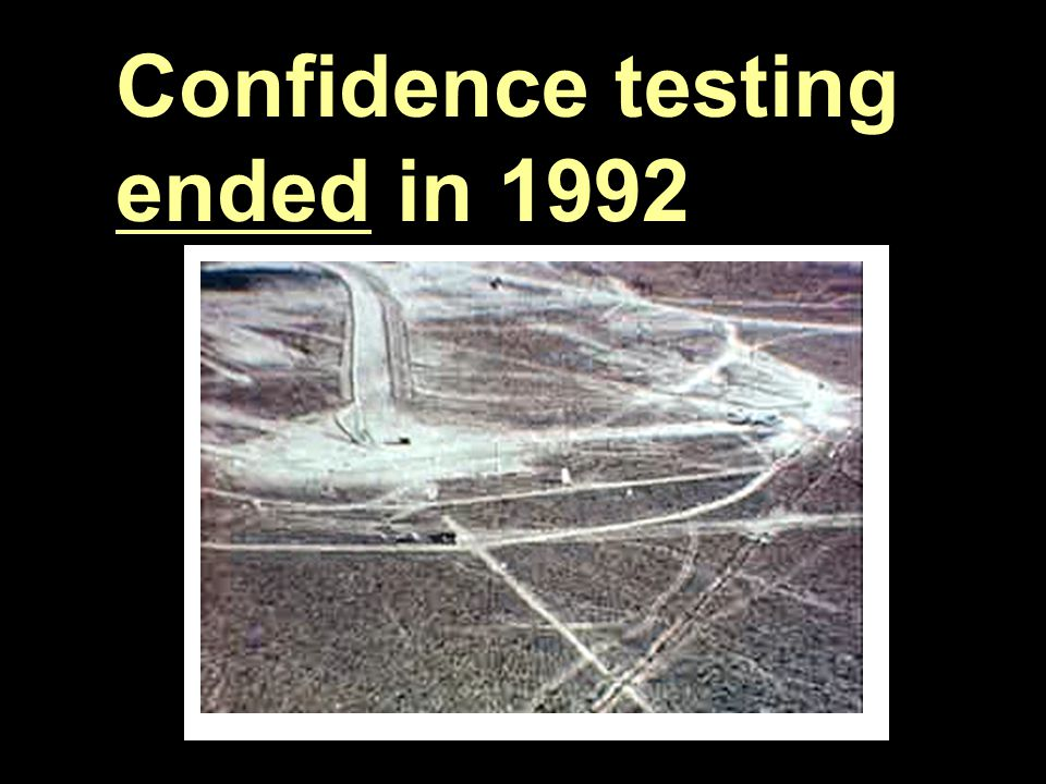 SC05 4 Confidence testing ended in 1992
