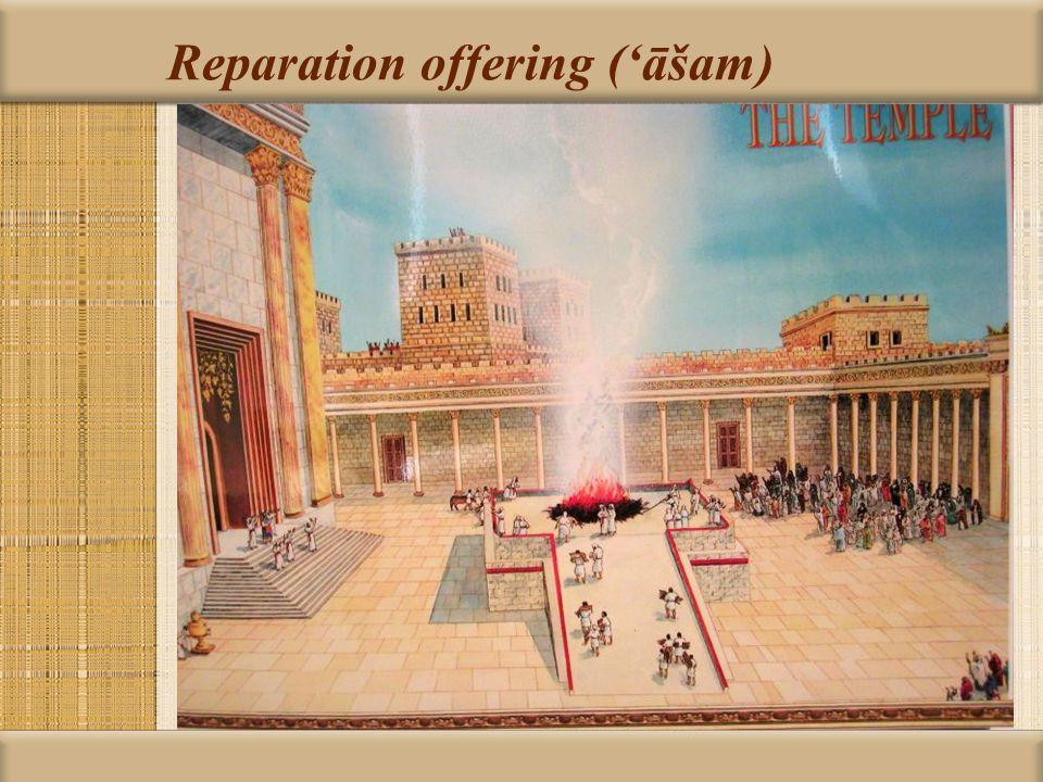 Reparation offering ('āšam)