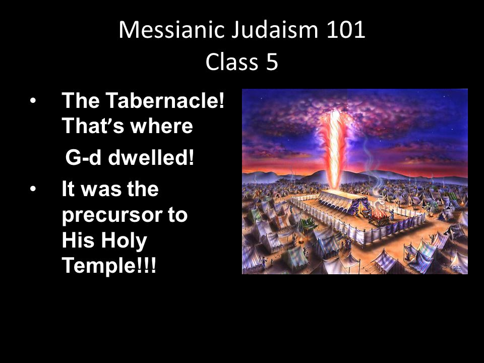 The Tabernacle. That ' s where G-d dwelled. It was the precursor to His Holy Temple!!.