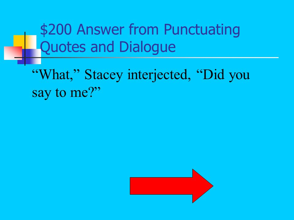 $100 Question from Punctuating Quotes and Dialogue What is the mistake within the quotation: that the short story's title is surrounded by two quotation marks on each side instead of one