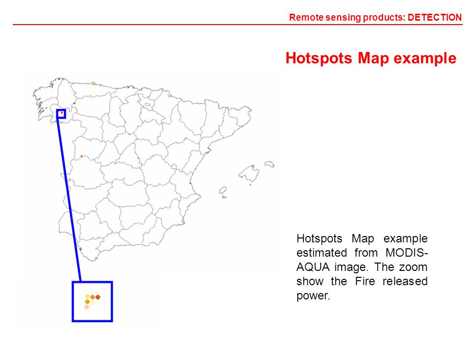 Hotspots Map example estimated from MODIS- AQUA image.