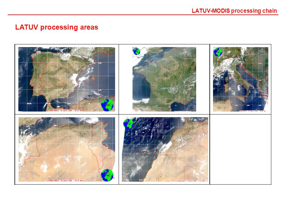 LATUV processing areas LATUV-MODIS processing chain