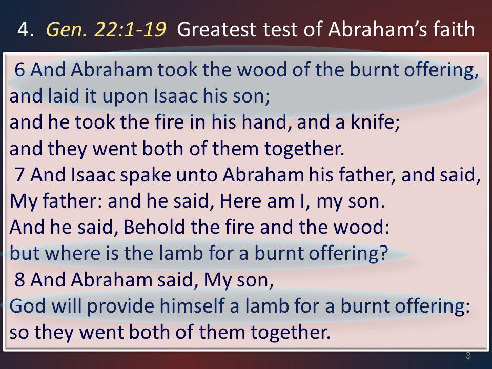 III.Set Proper Priorities A. Abraham's Priorities Gen.