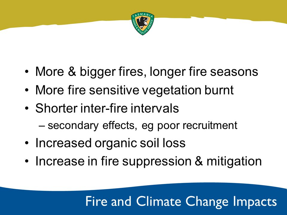 Rainfall Fire Danger Ratings Lightning ignitions Trends in Past Climate Change