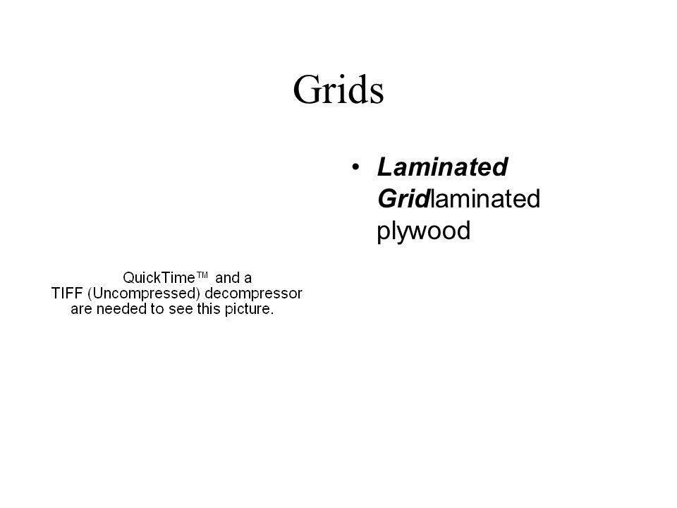 Grids Laminated Gridlaminated plywood