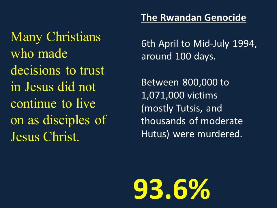 The Rwandan Genocide 6th April to Mid-July 1994, around 100 days.