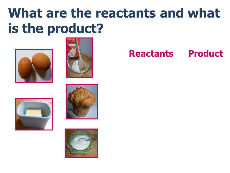 What are the reactants and what is the product? ReactantsProduct