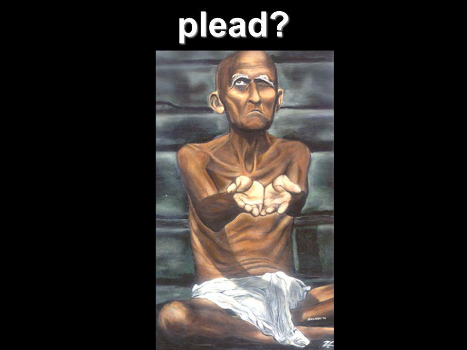 plead