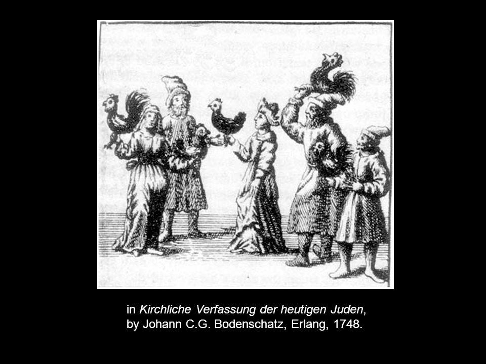 in Kirchliche Verfassung der heutigen Juden, by Johann C.G. Bodenschatz, Erlang, 1748.