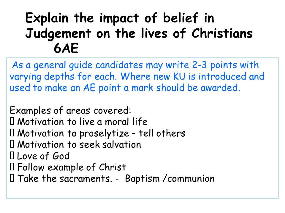 In what ways do Christians understand Judgement.