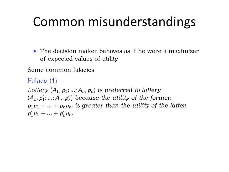 Common misunderstandings