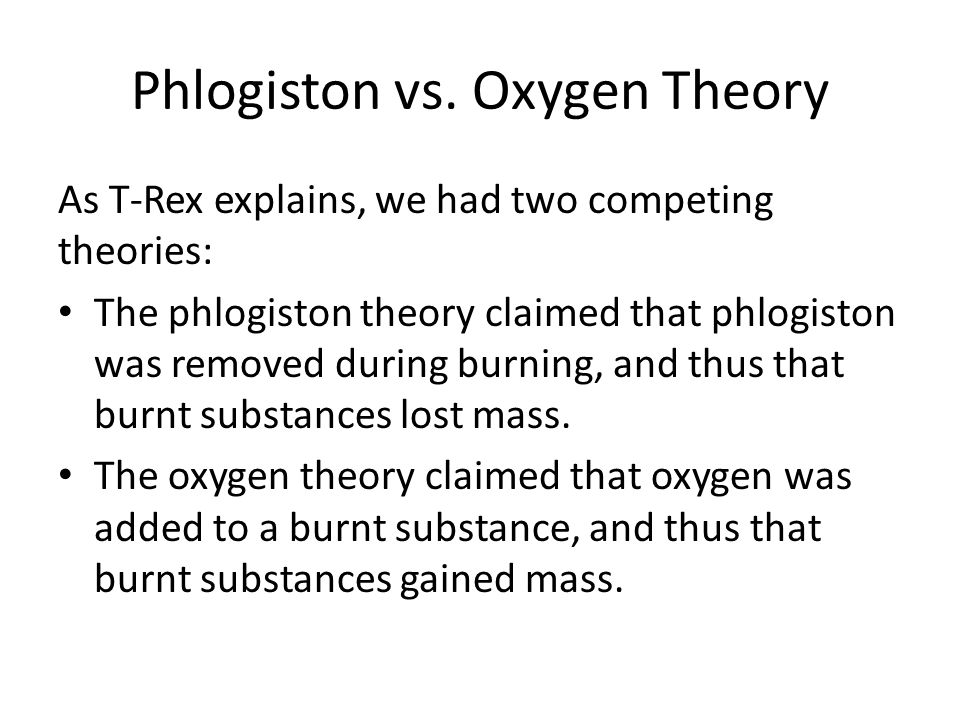 Phlogiston vs.