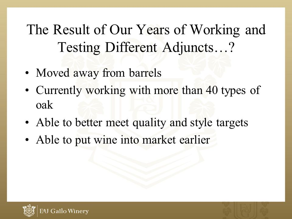 The Result of Our Years of Working and Testing Different Adjuncts….