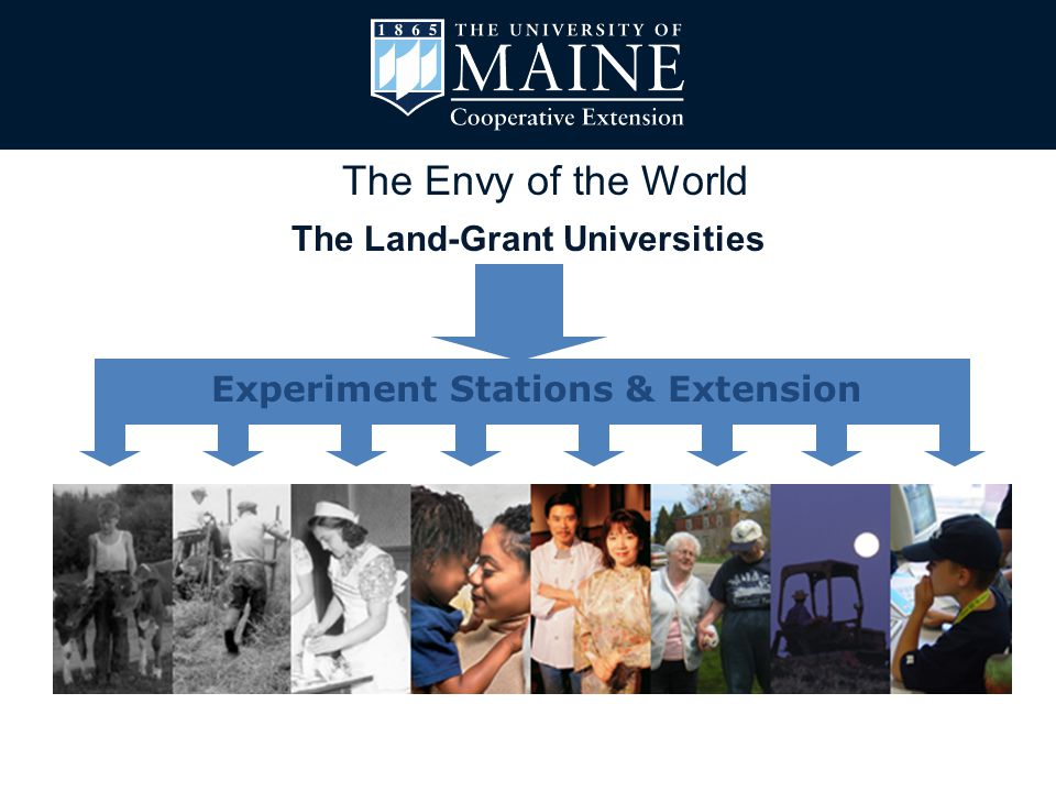 The Envy of the World The Land-Grant Universities Experiment Stations & Extension