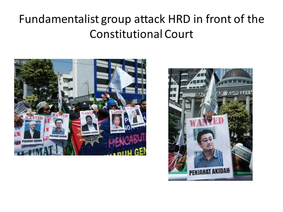 Fundamentalist group attack HRD in front of the Constitutional Court