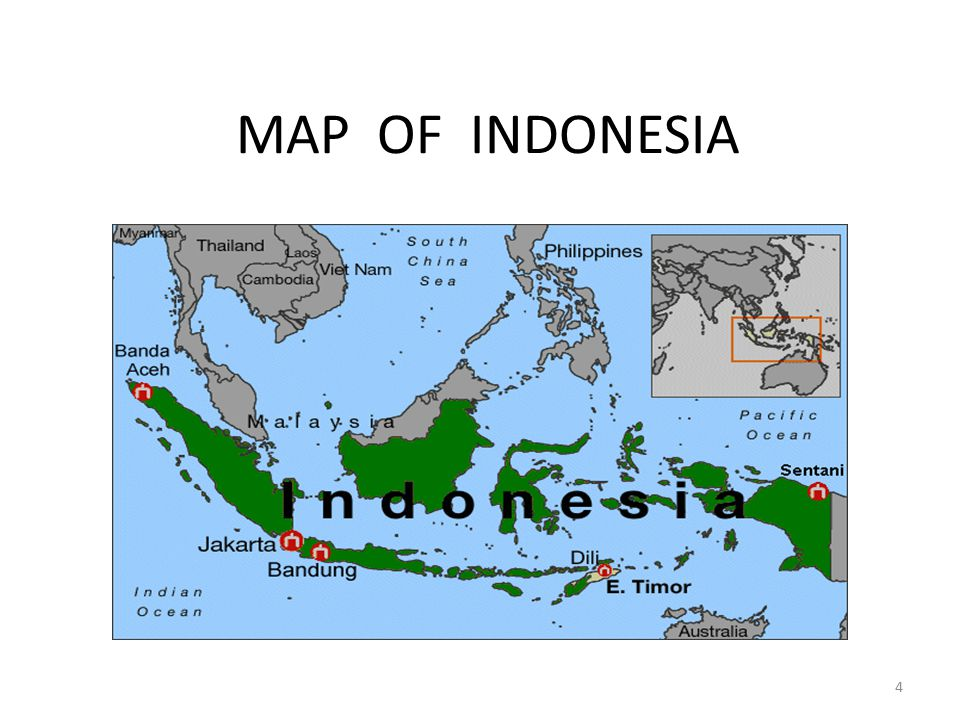 MAP OF INDONESIA 4