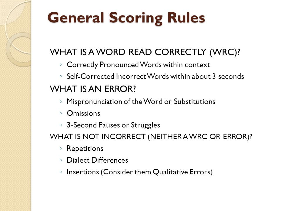 Directions for Scoring 1.
