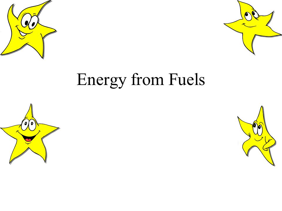 Energy from Fuels