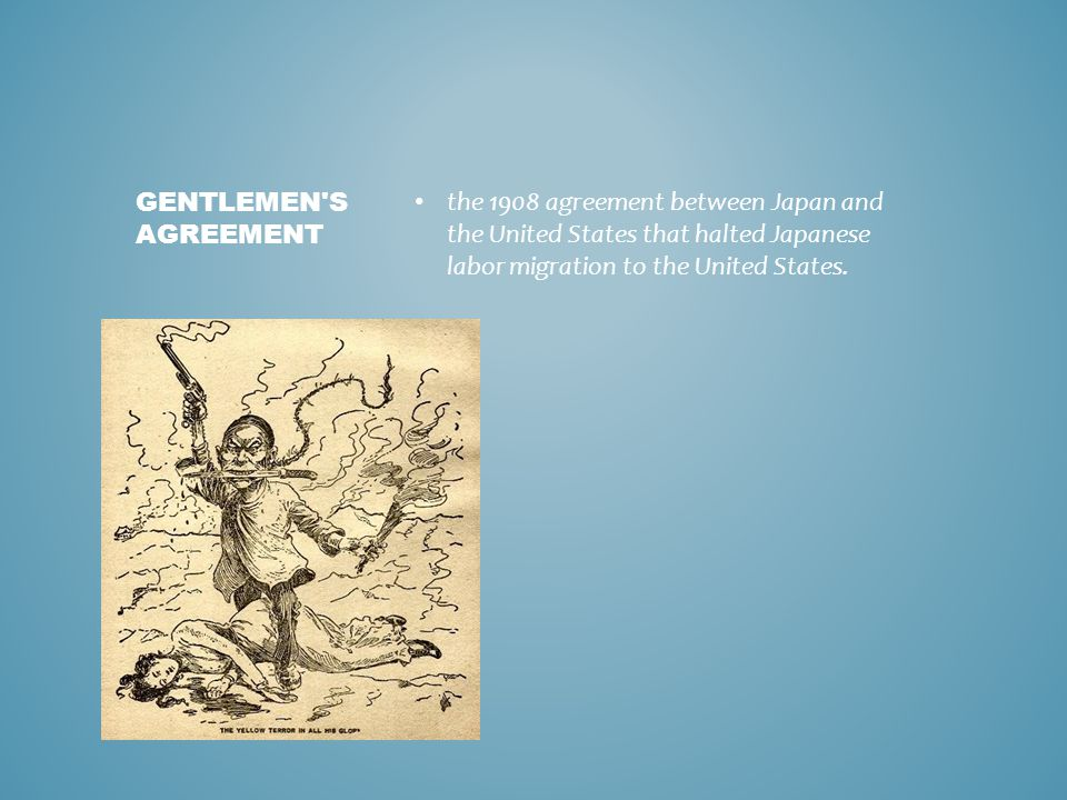 the 1908 agreement between Japan and the United States that halted Japanese labor migration to the United States.