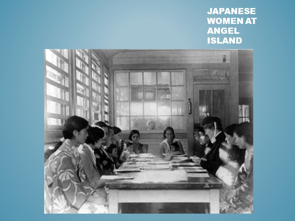 JAPANESE WOMEN AT ANGEL ISLAND