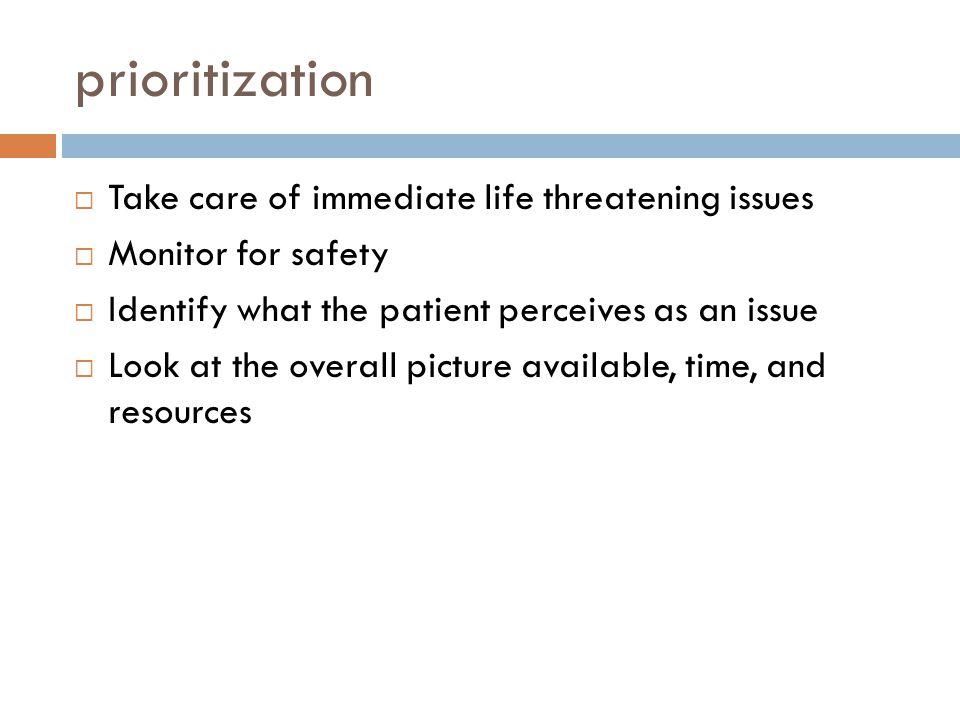  Recognize health problems. Anticipate complications.