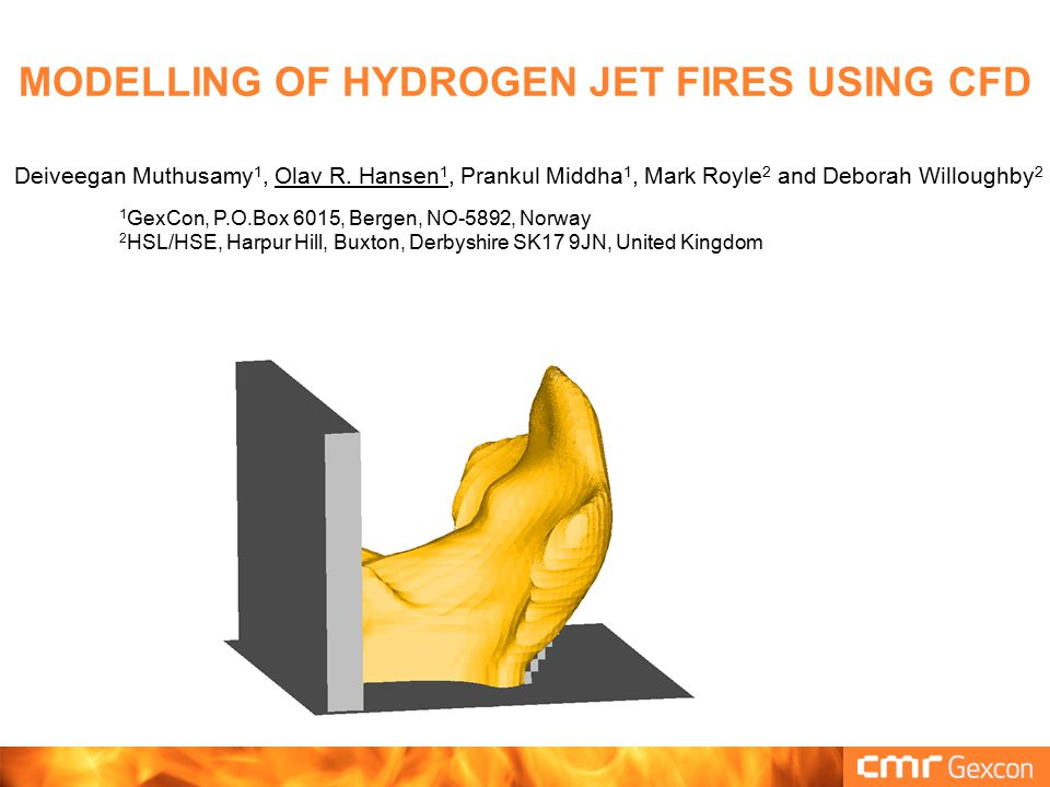 BACKGROUND FLACS-FIRE FLACS is a leading tool within offshore oil and gas  Used in most oil and gas explosion/blast studies  Preferred tool for many types of dispersion studies  Leading tool for hydrogen safety (applicability & validation) GexCon wants to add fire functionality  More complete tool for risk & consequence studies Offshore installation standards: Escalation from accidental loads < 10 -4 per year  NORSOK Z-013 (2010) and ISO 19901-3 (2010)  Combined probabilistic fire and explosion study wanted by oil companies
