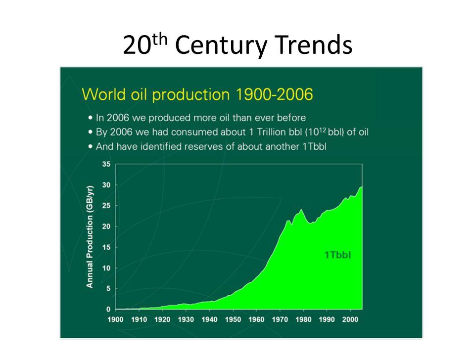 20 th Century Trends