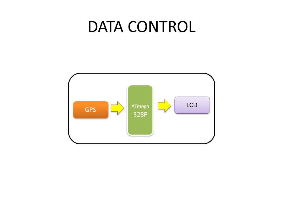 DATA CONTROL ATmega 328P GPS LCD