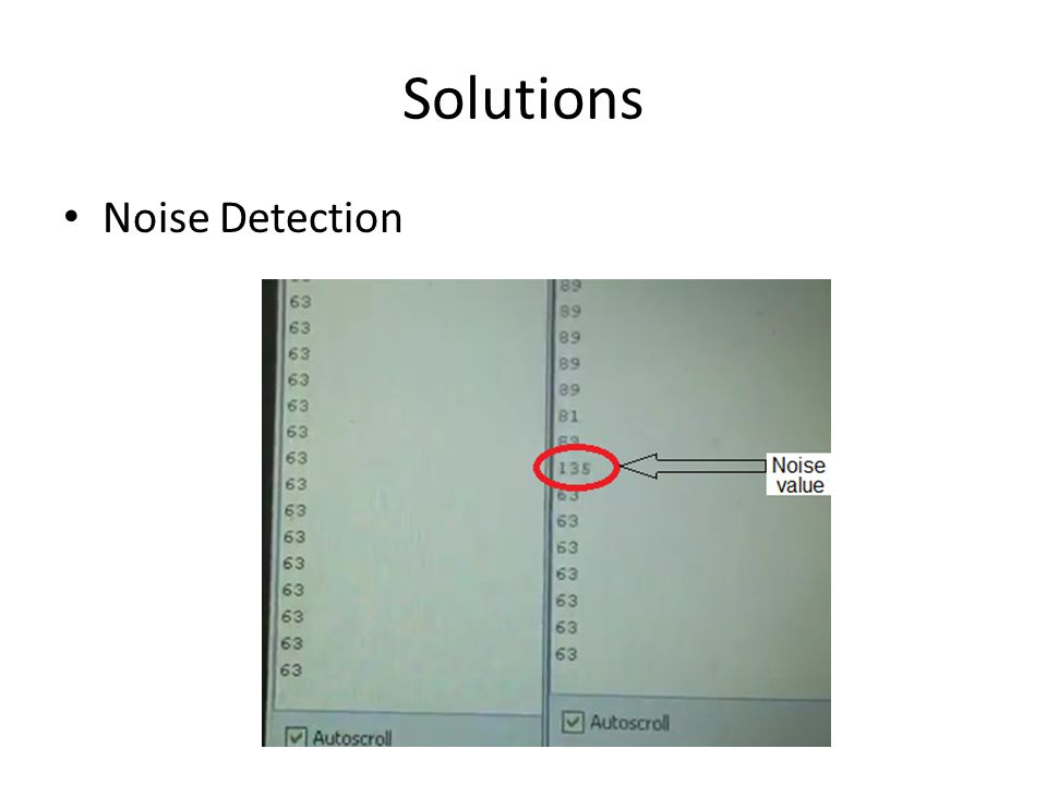Solutions Noise Detection