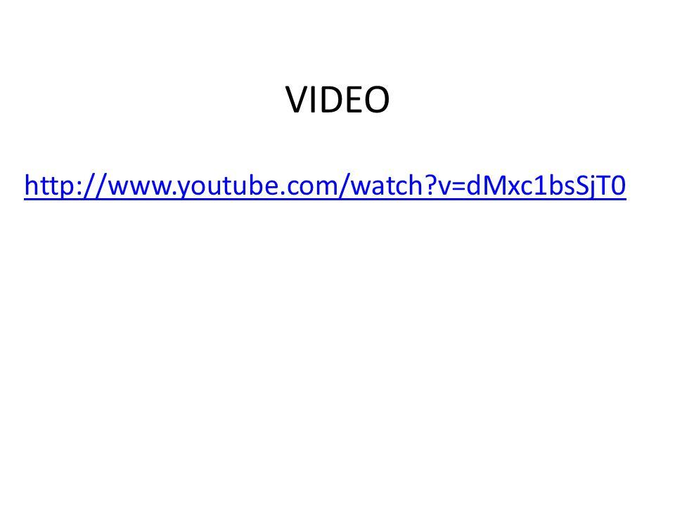 VIDEO http://www.youtube.com/watch v=dMxc1bsSjT0
