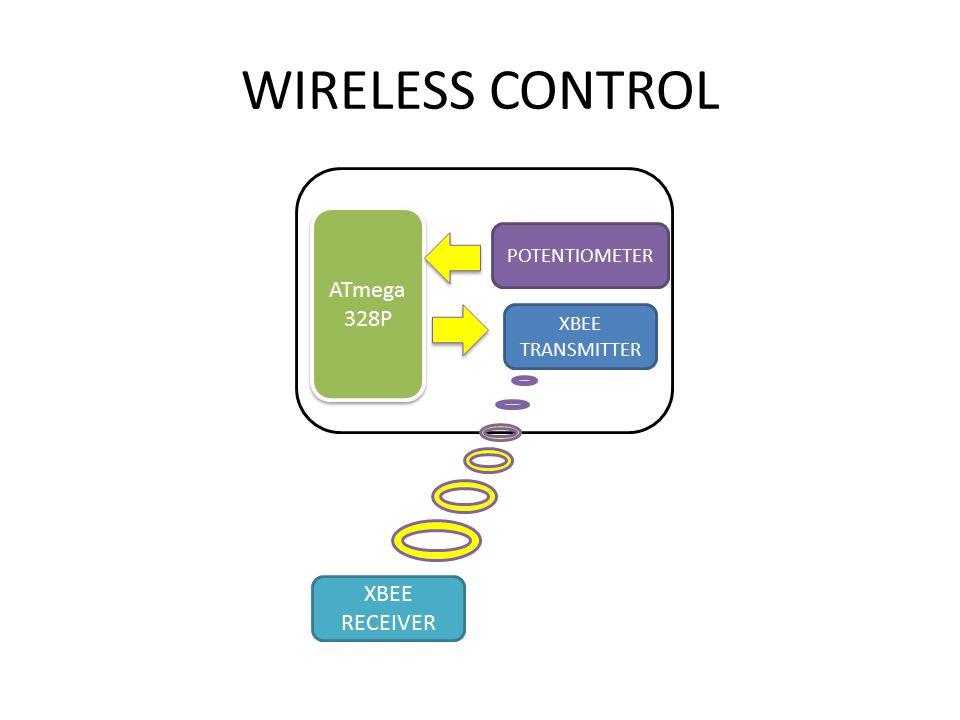 WIRELESS CONTROL ATmega 328P XBEE RECEIVER XBEE TRANSMITTER POTENTIOMETER