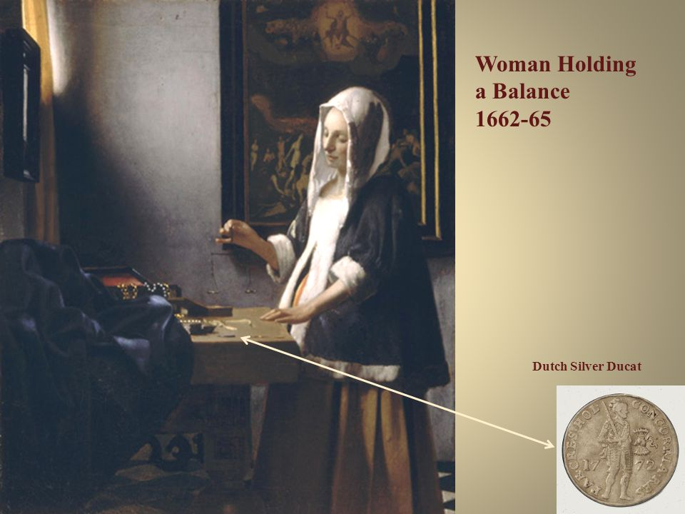 Woman Holding a Balance 1662-65 Dutch Silver Ducat