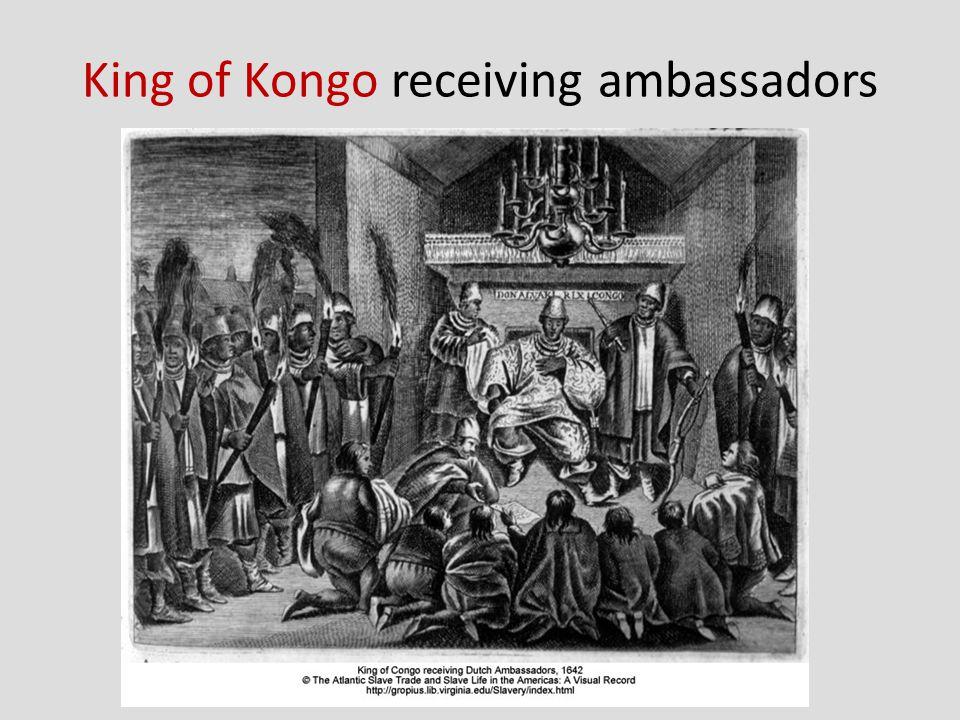 King of Kongo receiving ambassadors