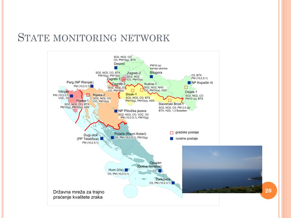 S TATE MONITORING NETWORK 20