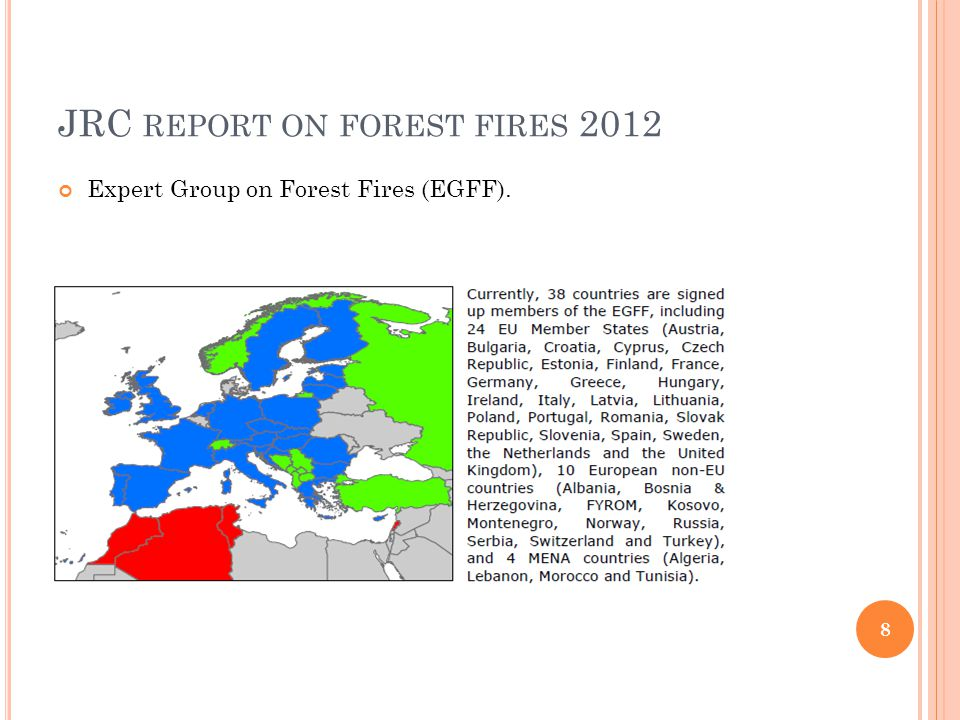 C ROATIA -2012 2012 -significant hectares of burned vegetation in the coastal (Mediterranean) and continental parts of the country Climate analysis made by the MHSC temperatures in the summer of 2012 (June, July, August) on the coast and in the Adriatic were extremely hot in comparison with recent years.