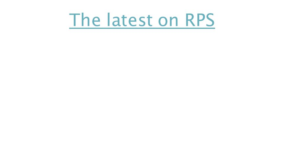 The latest on RPS