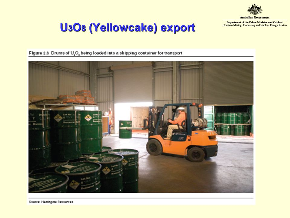 U 3 O 8 (Yellowcake) export