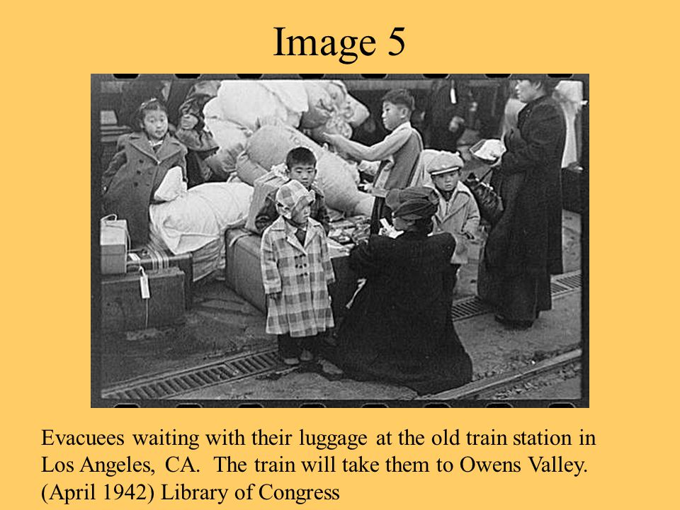 Image 4 Japanese Americans register for internment at the Santa Anita reception center in Los Angeles.