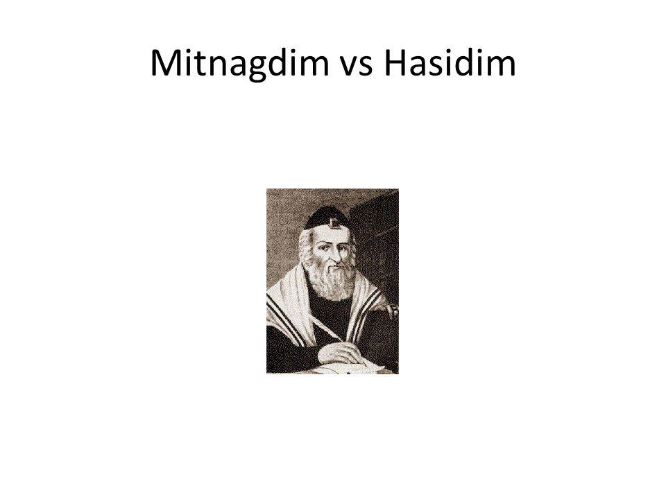 Mitnagdim vs Hasidim