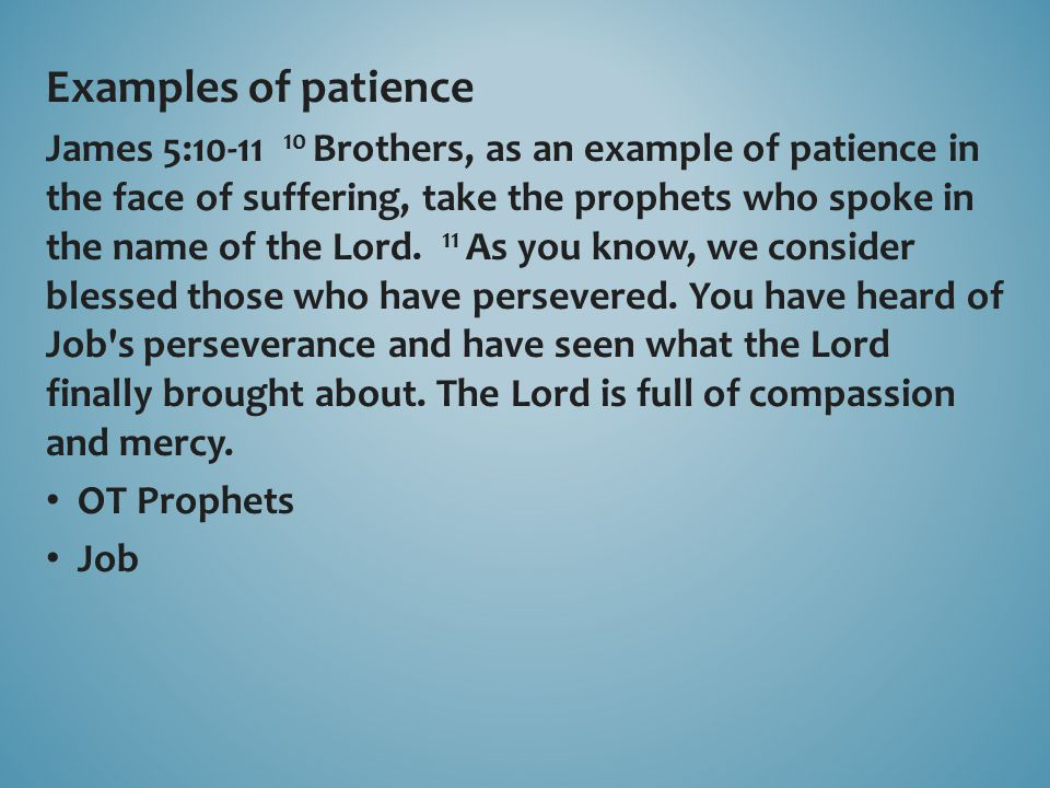God's example of patience 2 Peter 3:4-16 4 They will say, Where is this coming he promised.