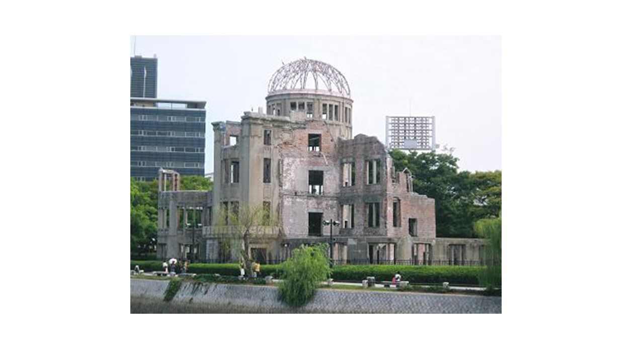 Reconstruction plan of Hiroshima Residence area Commercial area Industrial area