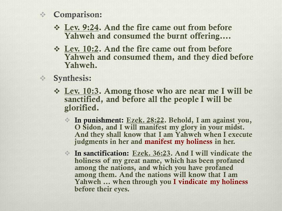  Comparison:  Lev. 9:24.