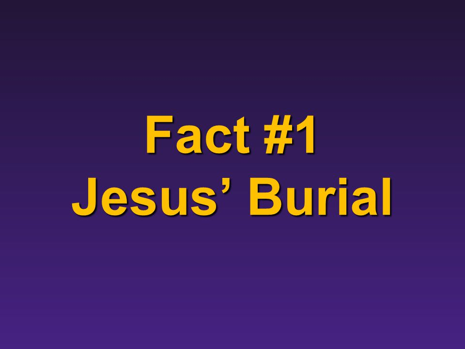 Introduction Overview of the Argument There are four facts that most biblical scholars agree upon: There are four facts that most biblical scholars agree upon: 1.