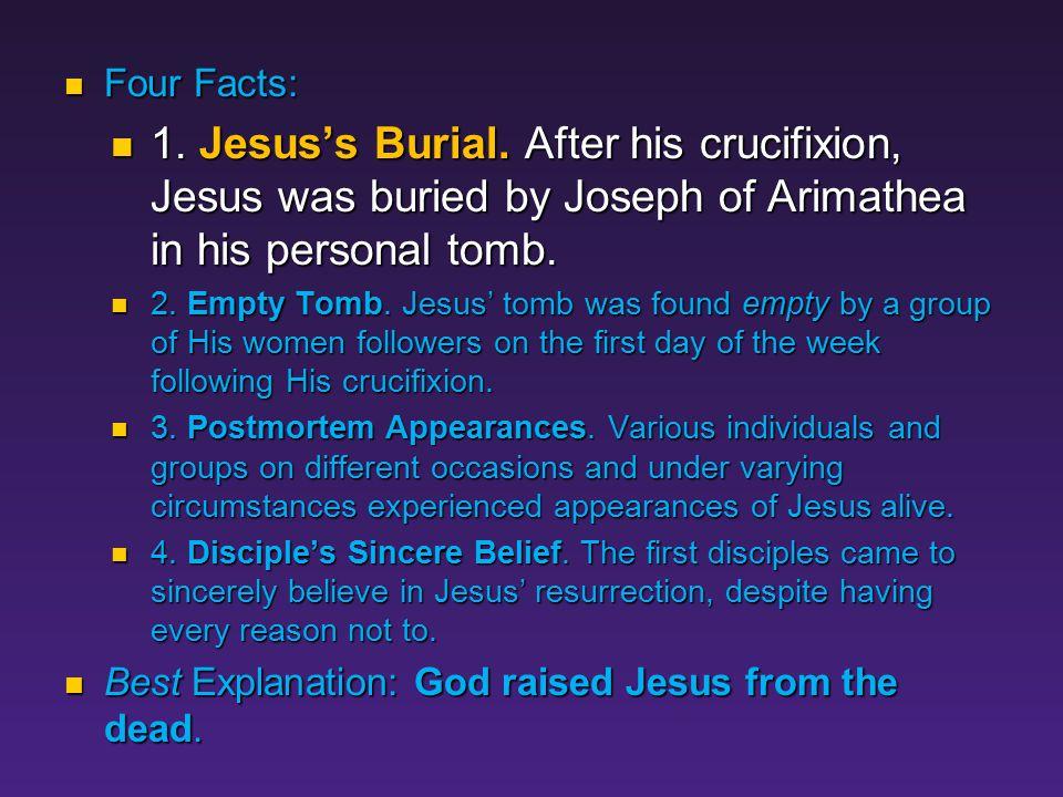 Fact #1 Jesus' Burial