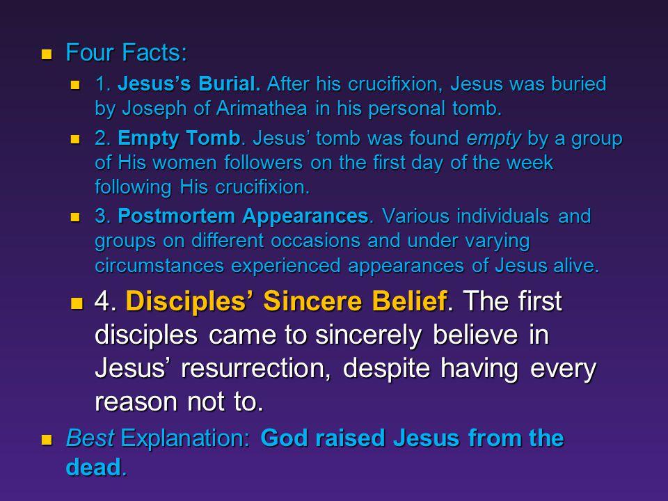 Fact #4 Disciples' Sincere Belief