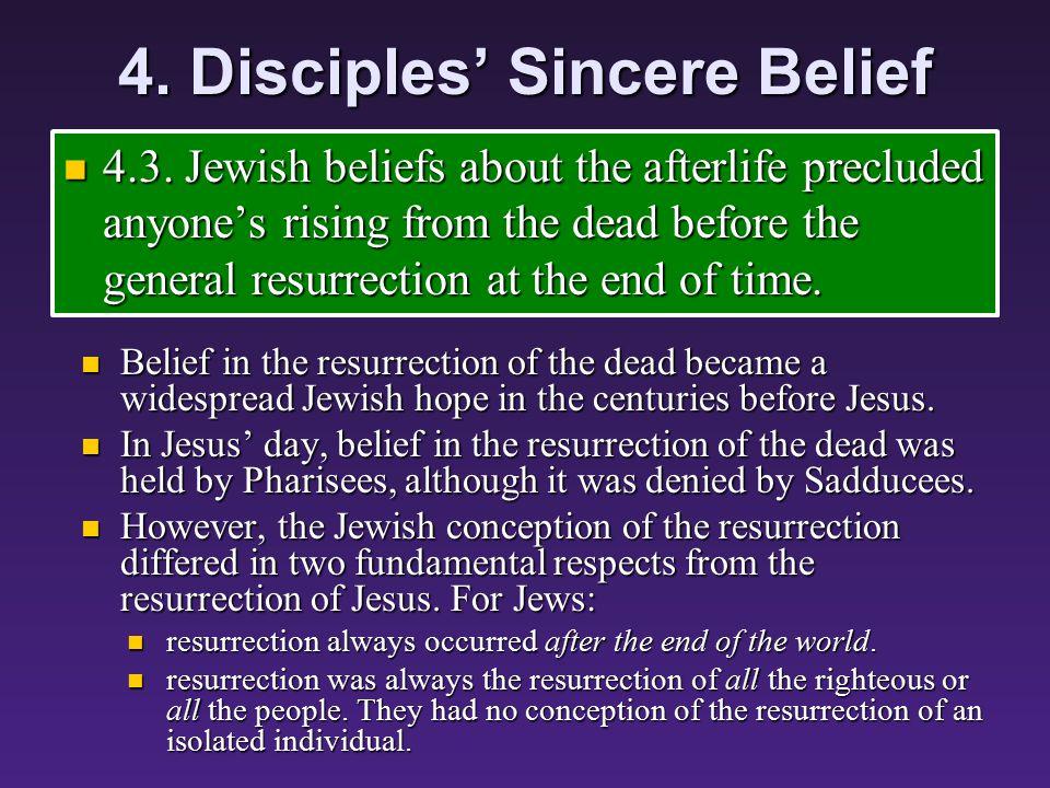 4. Disciples' Sincere Belief 4.2.